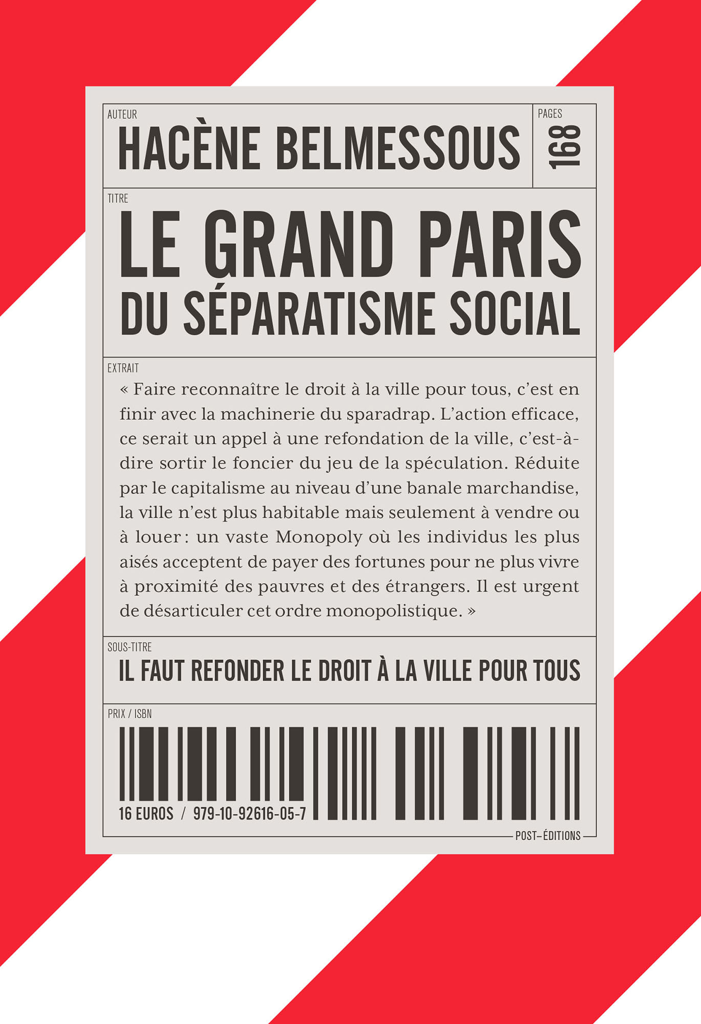 couverture de LE GRAND PARIS DU SÉPARATISME SOCIAL
